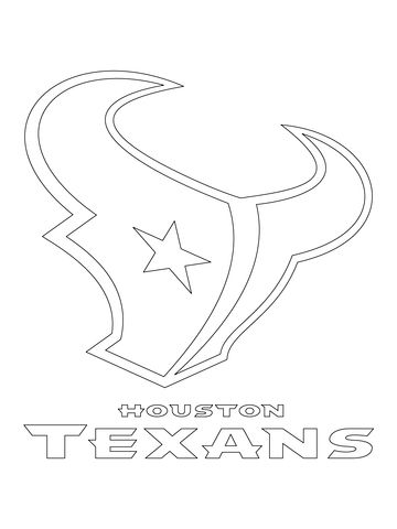 Houston Texans Logo coloring page from NFL category. Select from 24795 printable crafts of cartoons, nature, animals, Bible and many more.