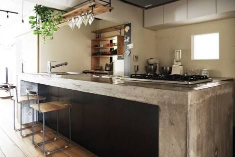 リフォーム キッチン コンクリート打ちっ放し - Google 検索