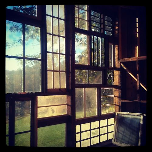 File under: New uses for old windows. Also: Beautiful.