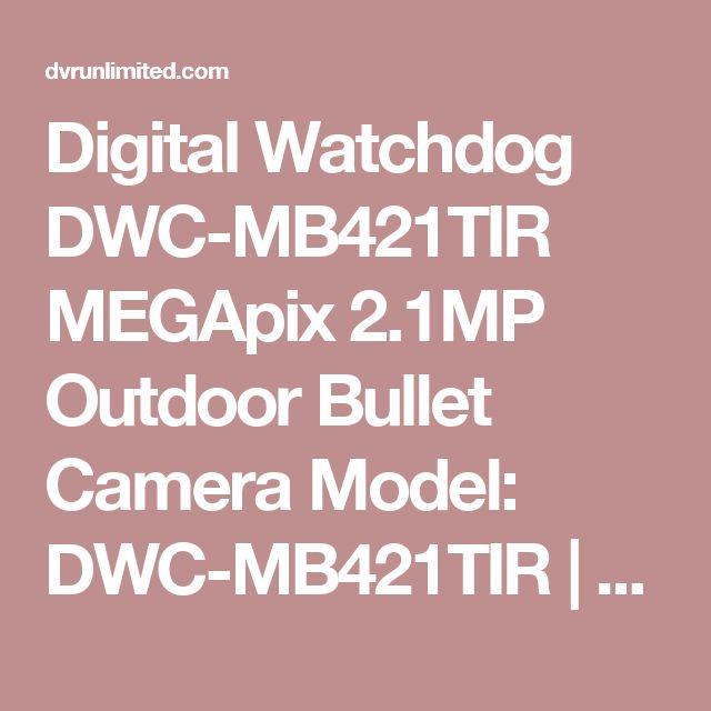 Digital Watchdog DWC-MB421TIR MEGApix 2.1MP Outdoor Bullet Camera Model: DWC-MB421TIR   Brand: Digital Watchdog Digital Watchdog DWC-MB421TIR MEGApix 2.1MP Outdoor Bullet CameraThe MEGApix 2.1MP Outdoor Bull..