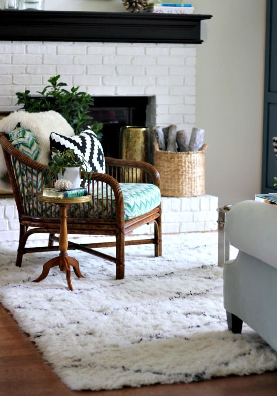 Hi Sugarplum | Updated living room with  new Moroccan Rug & accessories from Home Goods!: