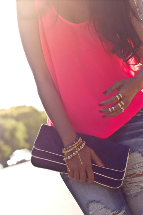 ☆: Fashion, Style, Color, Dream Closet, Clothes, Outfit, Accessories, Pink Top