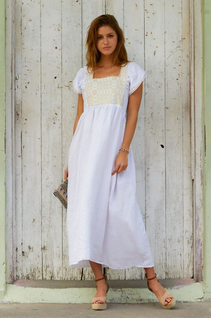 649b1666601 Nina Leuca Linen Midi Dress