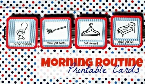 Make school mornings easier on everyone with these FREE Morning Routine Printable Cards