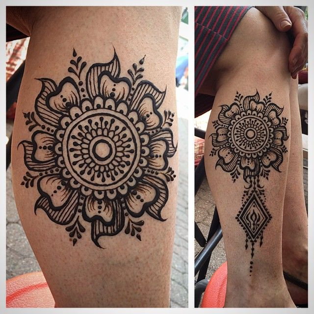 Love working on Ann! We always have a good talk ...and she really loves her henna.  The mandala-diamond layout was inspired by a back piece by Wardah of Henna Trendz.