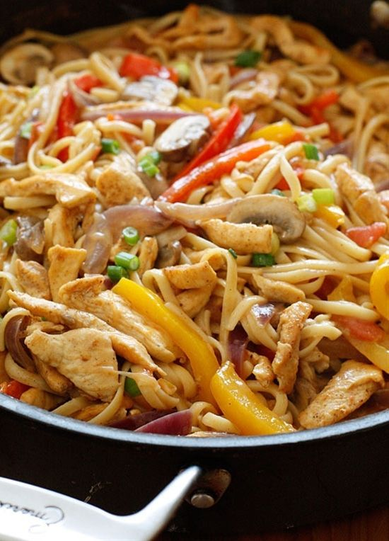 Ingredients:    8 ounces uncooked linguine (I used Dreamfields)  1 pound chicken breast strips  1-2 tsp Cajun seasoning (or to taste)  1 tbsp olive oil  1 medium red bell pepper, thinly sliced  1 medi - Click image to find more food & drink Pinterest pins