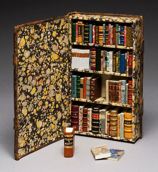 For the love of Books...A tiny Library inside a Book, by Houston Foodlovers Book Club.