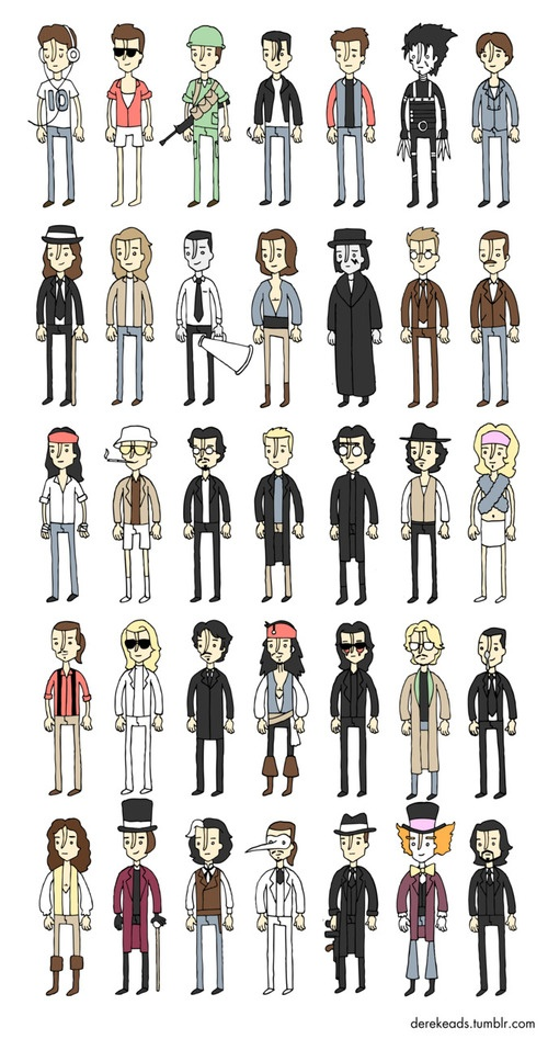 Johnny Depp: one man, many outfits