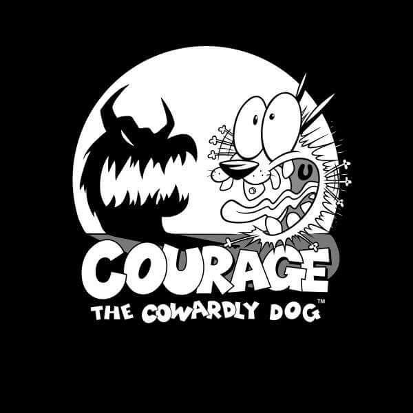 Courage The Cowardly Dog Spotlight Men S T Shirt Black Cartoon Network Characters Old Cartoon Network Cartoon Network Shows