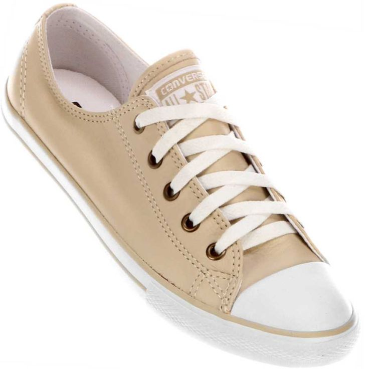 Tênis Converse All Star CT As Dainty Leather OX Casual Feminino Bege