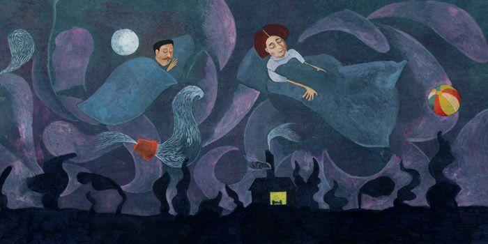 "Tomáš Řízek illustration for ""The Boy and the Moon""."