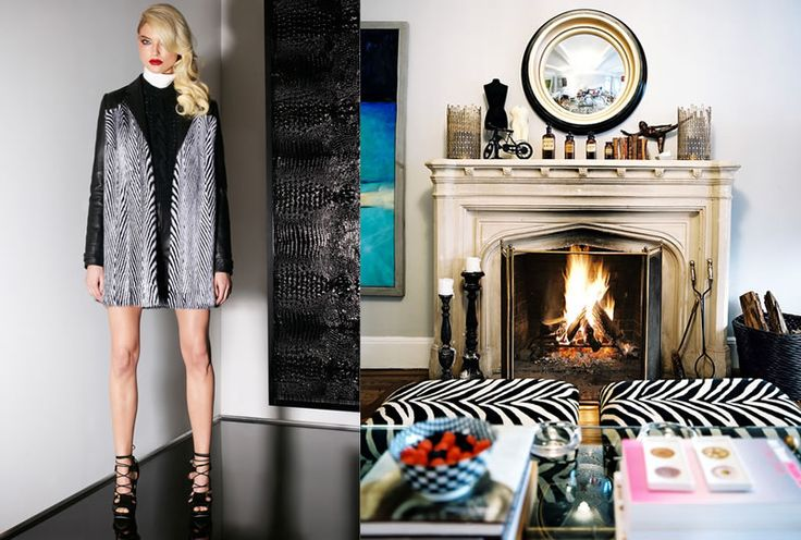 Love how the fashion can be translated into the interior. Jason Wu Pre-Fall 2013 and Lonny Magazine