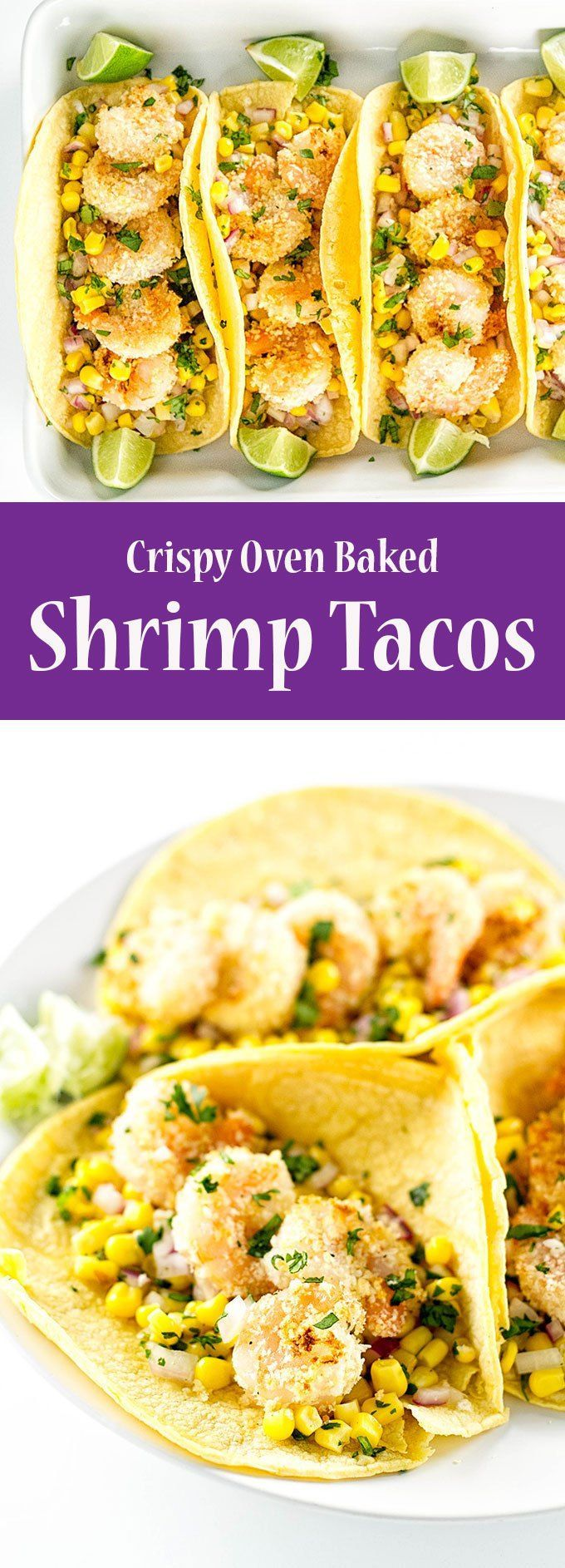Easy shrimp tacos with corn salsa | girlgonegourmet.com