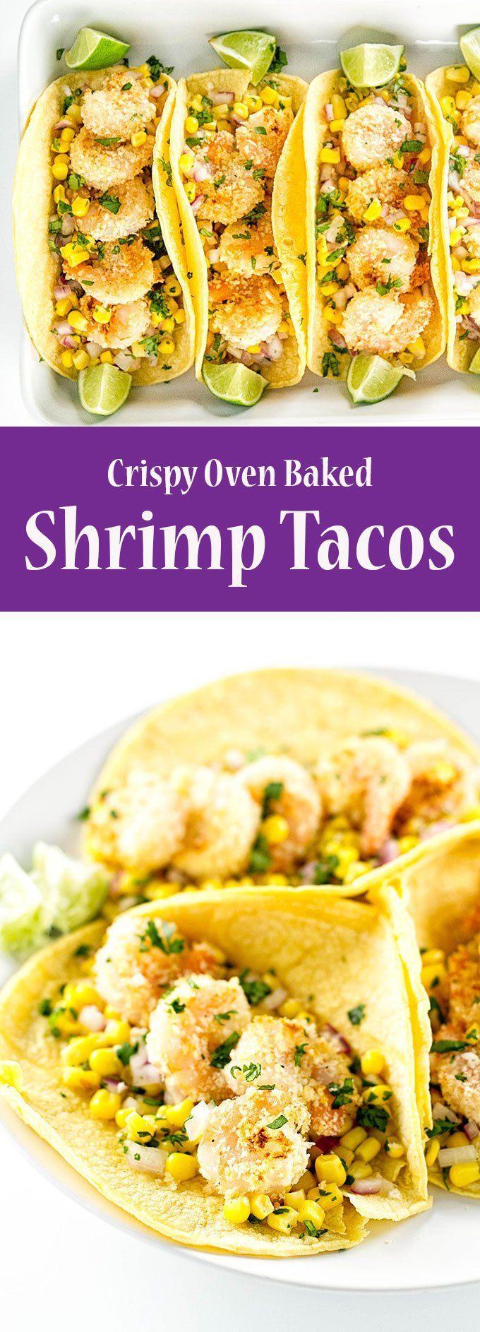Easy shrimp tacos with corn salsa | girlgonegourmet.com