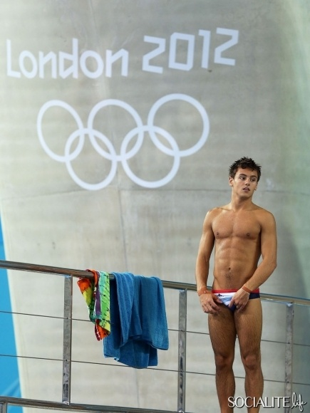 British Diver Tom Daley At The Aquatics Centre in the Olympic Park