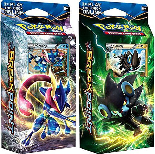 Pokémon cards! 4.5 star reviews cards!!   Cut through the waves and slash foes in the battle arenaflow like water and bend like grass! Greninja and Slowking come to your call in the Wave Slasher theme deck!This Greninja pre-made theme deck contains a legal 60-card deck, damage & condition counters, a card checklist and a deckbox.The hour grows desperate, and two worlds …