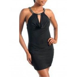 Vestidos Corto Negro MU340