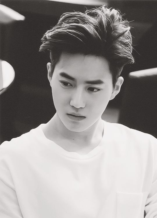 Suho, SMILE! DONT LOOK SO MAD! ITS ONLY A LITTLE TINY RULER NOT A CHAIN SAW! BUCK UP!                                                                                                                                                     Más