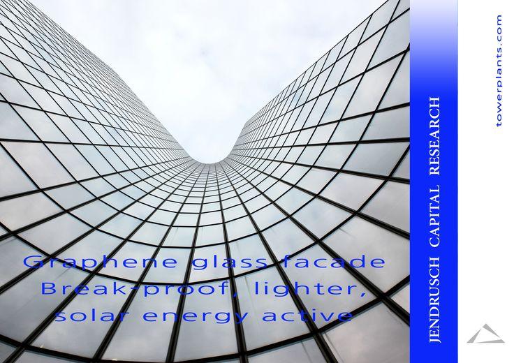 Graphene glass facade  Break-proof, lighter, solar energy active