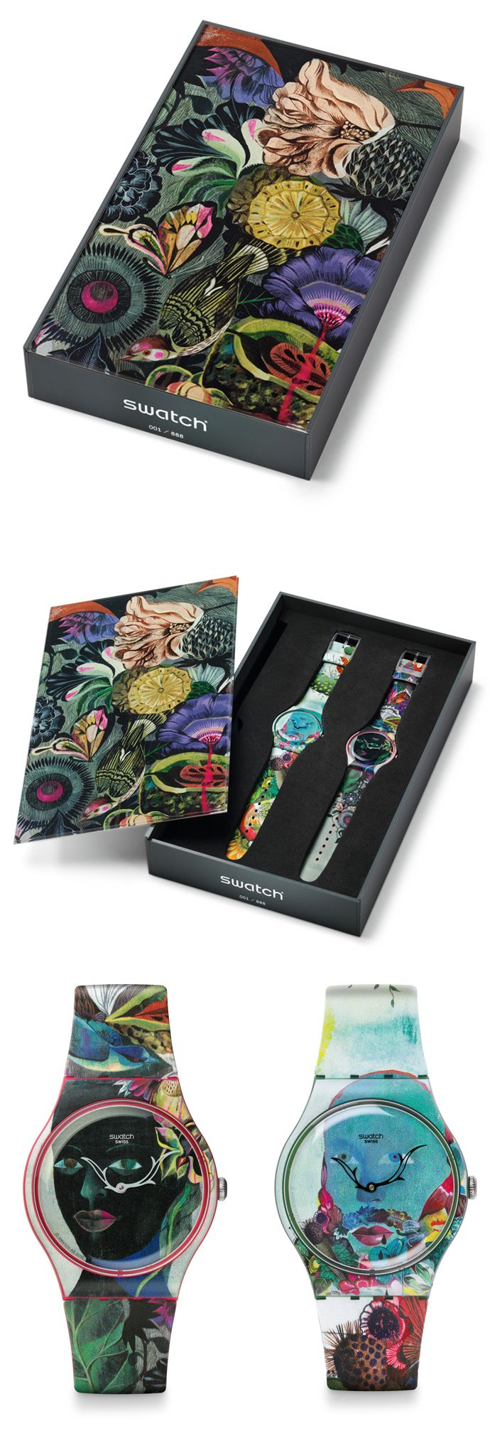 How pretty is this Swatch #packaging and matching watches PD