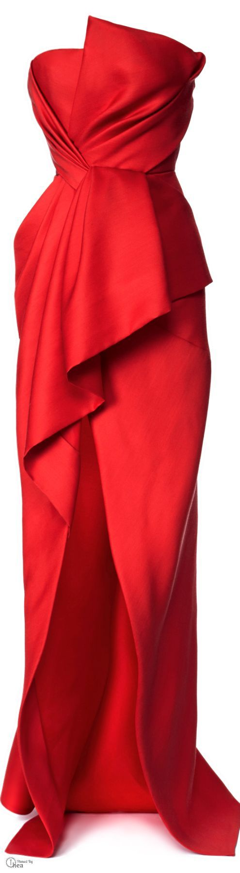 J. Mendel ● Resort 2014 This is the red version of Chanel Iman's striped dress below.