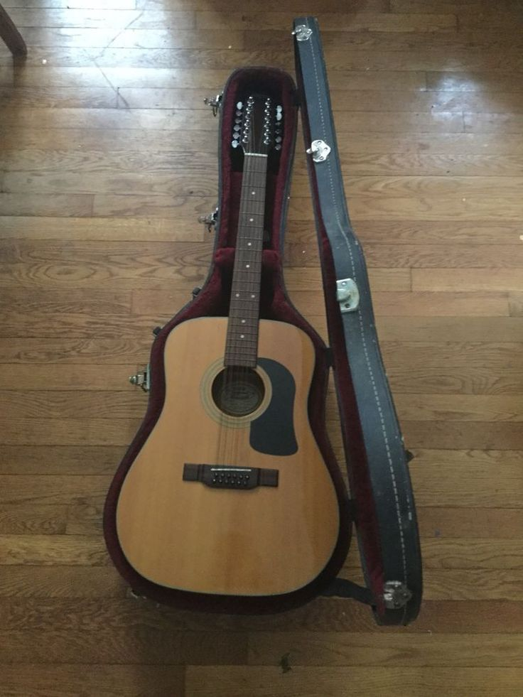 George WASHBURN 12 String D12S-12 Acoustic Guitar With Hard Case Beautiful #Washburn