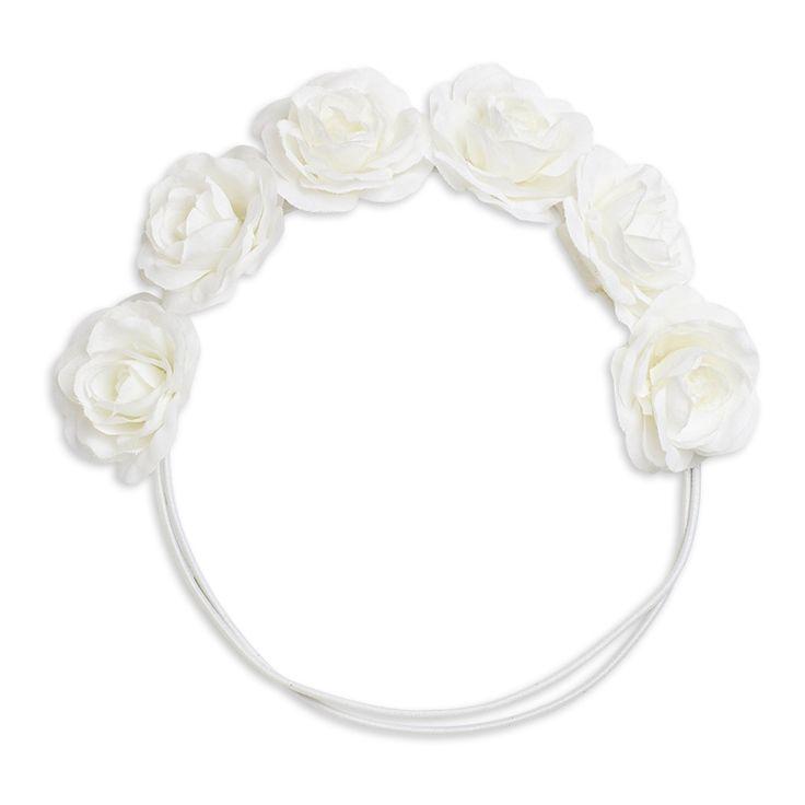Hårband med blommor, Vit, Accessoarer, Barn | Lindex