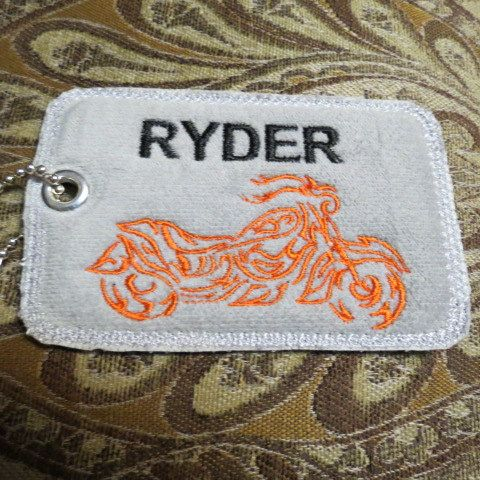 Personalized Embroidered Motorcycle Bag Tag, Luggage Tag, Backpack Tag, Personalized  Gift, Handmade