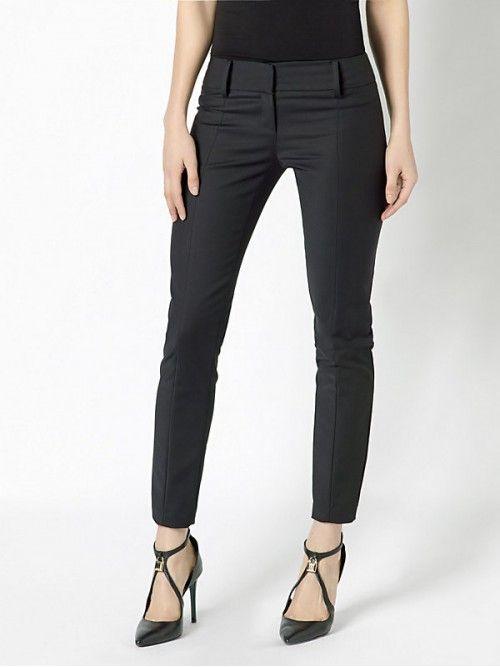 Patrizia Pepe pantalone slim in tessuto bielastico couture Nero