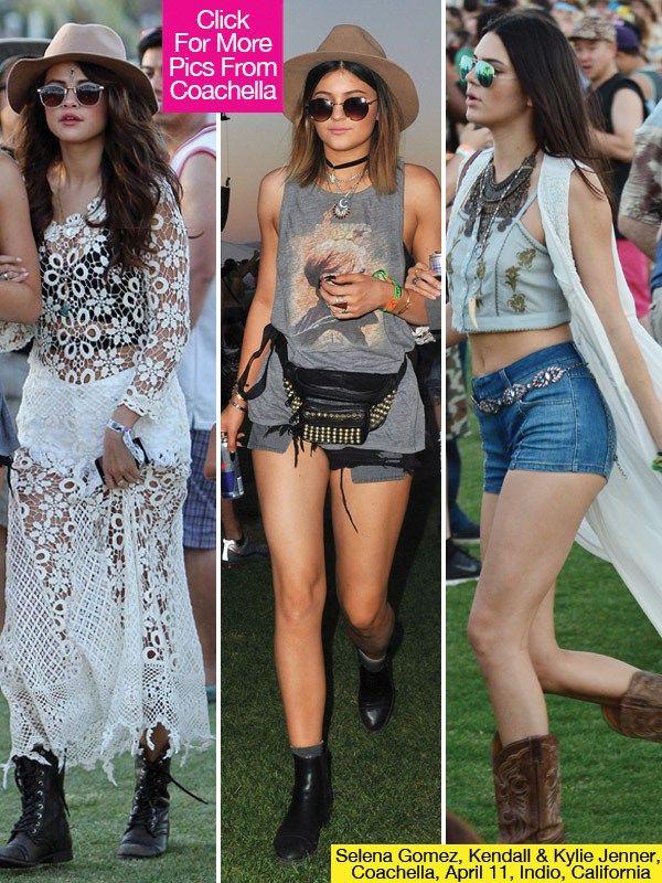 Coachella Style: Selena Gomez's Sheer Dress, Kendall Jenner's Shorts &More