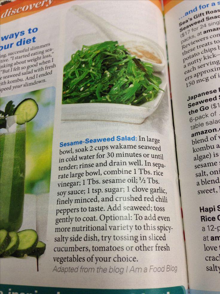 Seaweed salad recipe...love me some seaweed salad!!