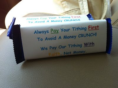 Training Your Life: Lesson #29 - Paying Tithing with the Right Attitude. This would be a great handout
