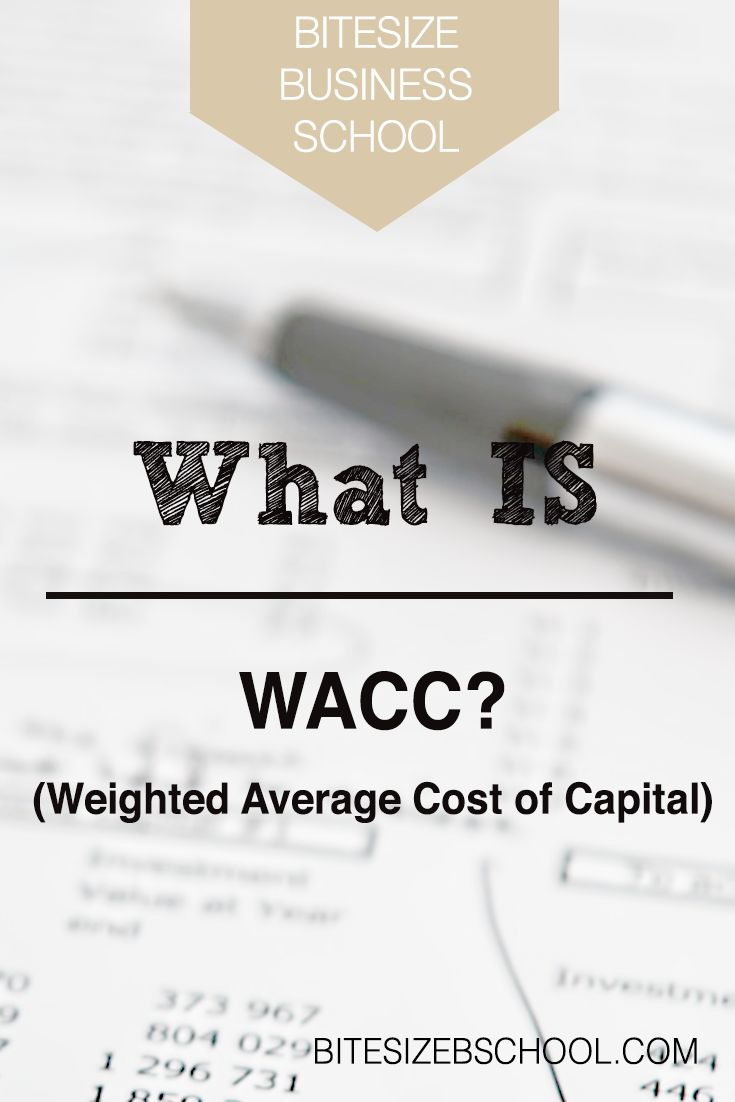 The Weighted Average Cost of Capital (WACC) is a formula used to calculate how much a company is going to pay for its financing. Meaning, it shows a firm's cost of capital proportional to its financing mixture for every dollar financed.
