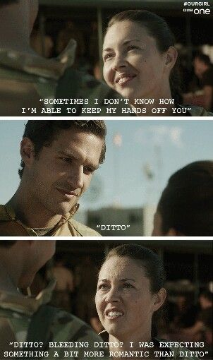 And they say romance is dead?! Our Girl. Ben Aldridge. Lacey Turner.