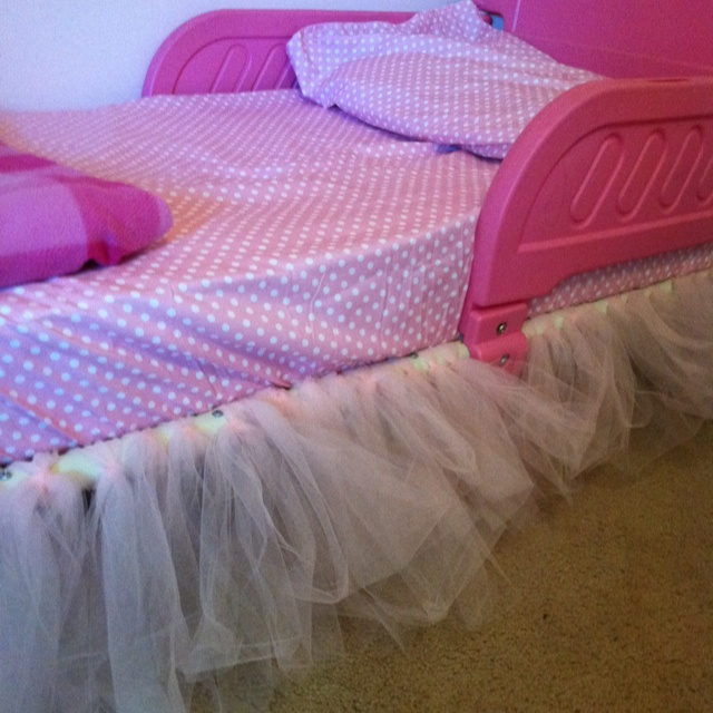 Tutu Bed Skirt Simple For Toddler Size Bed Use 5 Yards