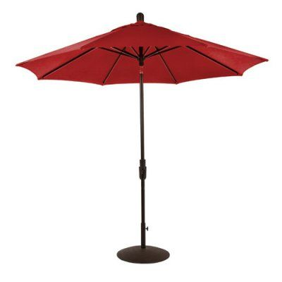 Amauri Outdoor Living Zuma Shore 9 ft. Round 360-Rotation Auto Tilt Aluminum Sunbrella Market Umbrella Jockey Red - 61213-101-CS21302