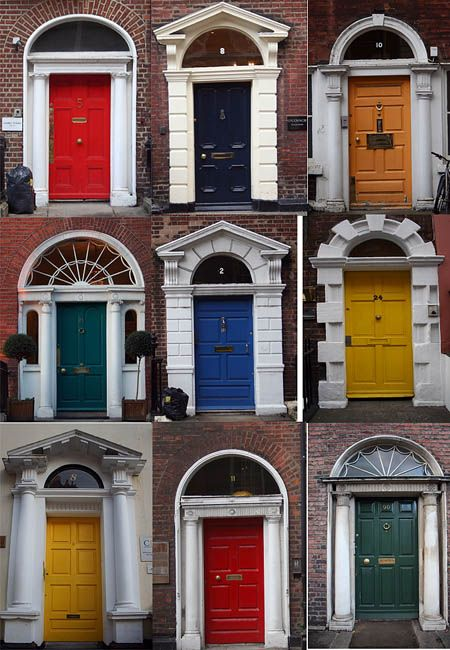 Georgian doors, Dublin. Ireland,  Would be cute to get pics like this and then frame them for the red couch room.