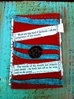 Ruth Rae's fabric art journals.