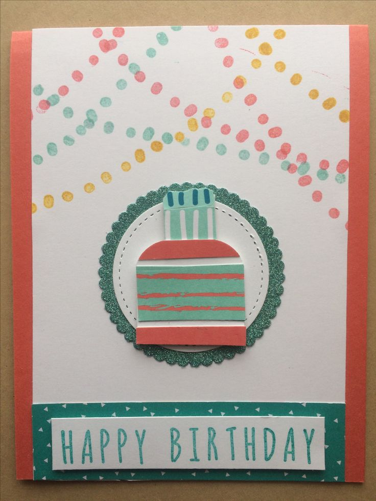 Stampin Up Paper Pumpkin February 2017 alternative by Pat McG. Many Happy Birthdays