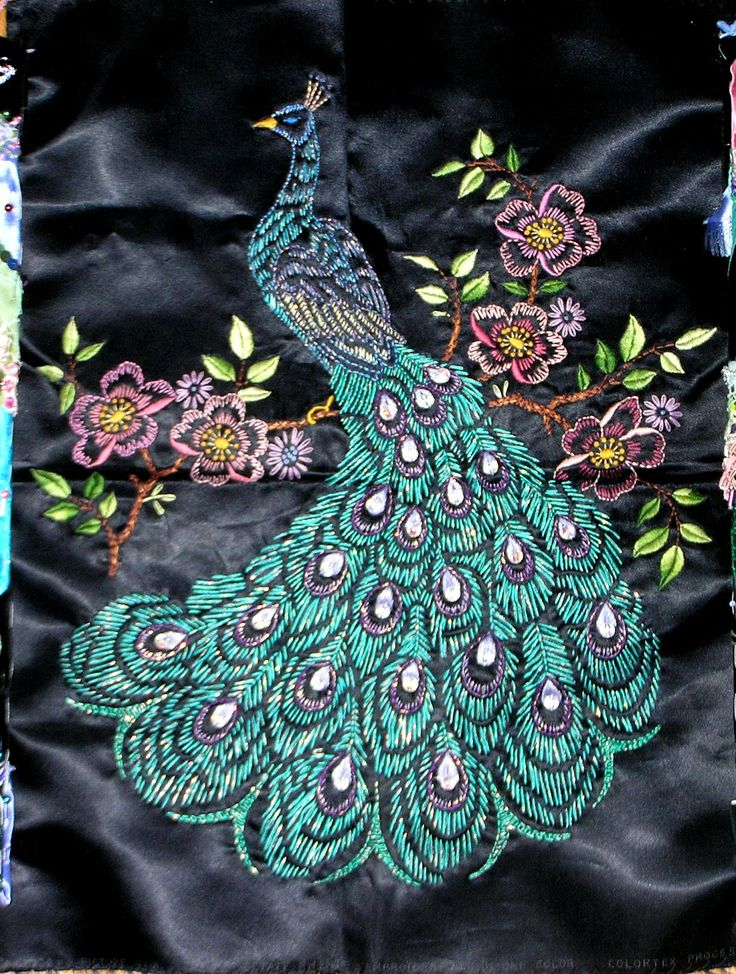 Crazy Quilting and Embroidery Blog by Pamela Kellogg of Kitty and Me Designs: The Peacock Quilt