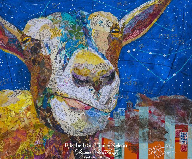 Elizabeth st hilaire nelson goat art art collage artists