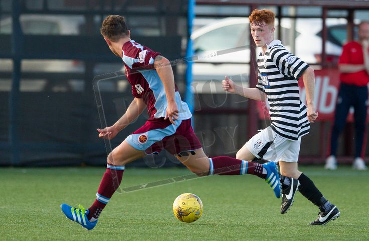 Queen's Park's LIam Brown in action during the Betfred Cup game between Stenhousemuir and Queen's Park.