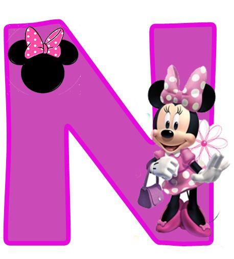 Minnie Free Alphabet in Purple. Alfabeto Púrpura de Minnie.