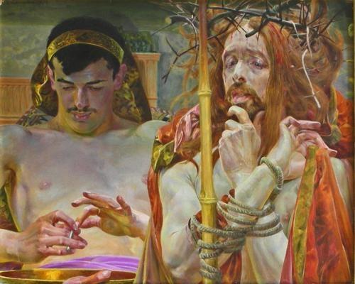 Jacek Malczewski - Christ Before Pilate, Oil on Canvas (1910)