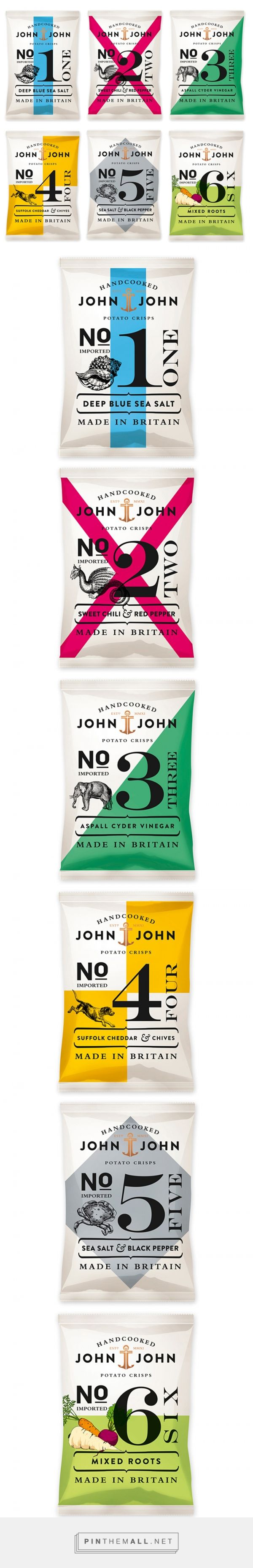 John & John Potato Crisps Packaging by Peter Schmidt Group | Fivestar Branding Agency – Design and Branding Agency & Curated Inspiration Gallery