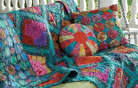 Jewel Frames Quilt From Kaffe Fassett Free Patterns And