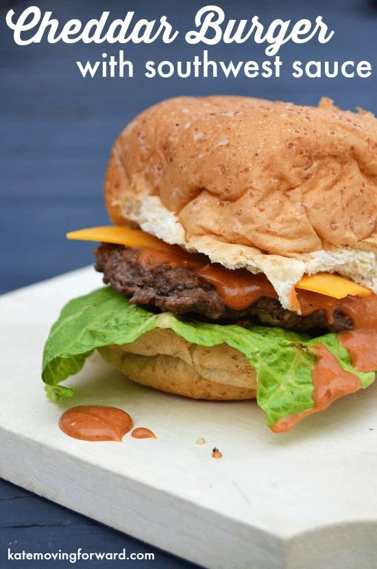Cheddar Burgers with Southwest Sauce--mouthwatering burgers with loads of cheese and a special sauce that is to die for!
