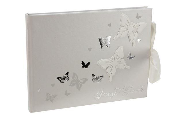 Gæstebog med sommerfugle til Bryllup