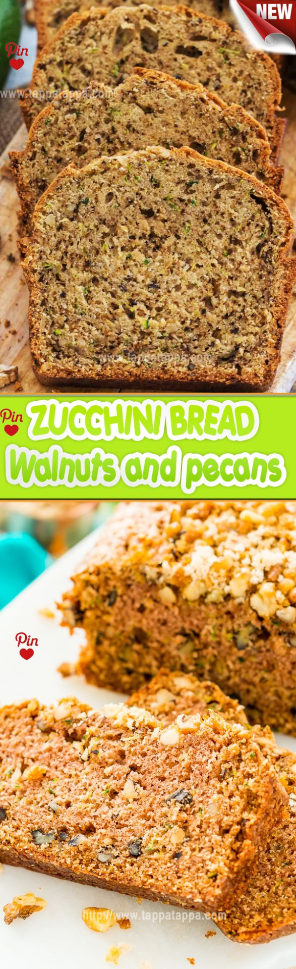 EPIC #ZUCCHINI BREAD Walnuts and pecans are especially good in zucchini bread an…