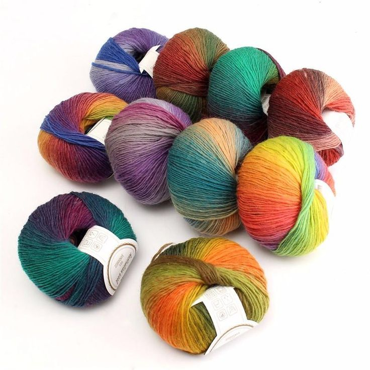 New Arrival 50g New Chunky Baby Wool Ball Rainbow Colorful Knitting Crochet Yarn, crochet fun, yarn, gifts for her, gifts for mom, handmade, fun knitting, knit, yarn, wool, knitting